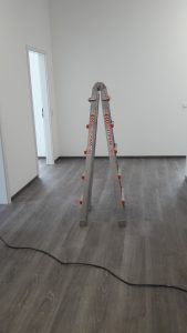 Installation mit Leiter